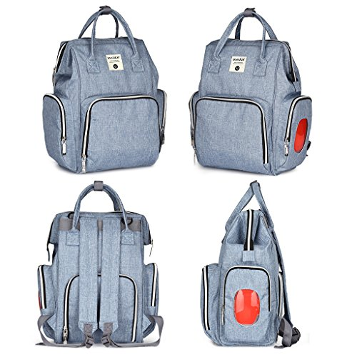 - Cicitop Diaper Bag Backpack with Changing Pad, Large Capacity The Separated Storage Bagpack, Multifunction Travel Backpack with Stroller Straps Hop Skip (Denim)