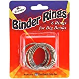 Pencil Grip The Classics Loose Leaf Book Rings, Medium, 2.5 Inch, Silver, Pack of 5 (TPG-187)