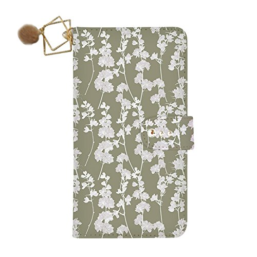 Olive Dia - Galaxy S8 Active (+) flip case dia-032 Stephanie (olive khaki) Wallet Case Kickstand Slim Fit Heavy Duty Protection Screen Protector Flower Watercolor Fur Charm Verizon AT&T Sprint T-Mobile