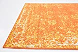 Traditional 3 feet by 5 feet (3' x 5') Sofia Orange