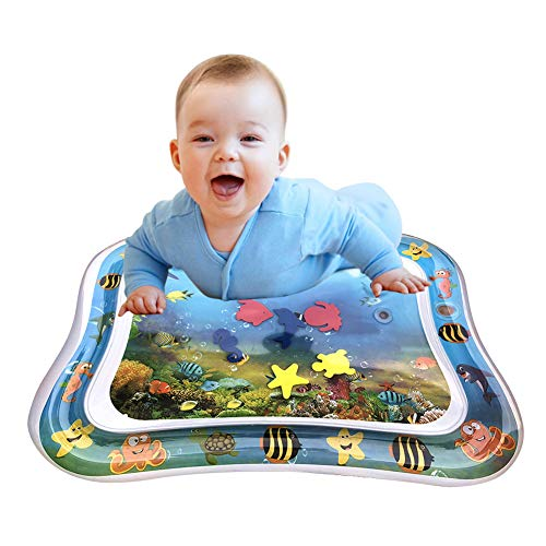 Inflatable Tummy Time Baby Water Play Mat for Infants Toddlers BPA Free Leakproof Activity Center for Newborns Engaging Fun Toys for Stimulation Growth 26