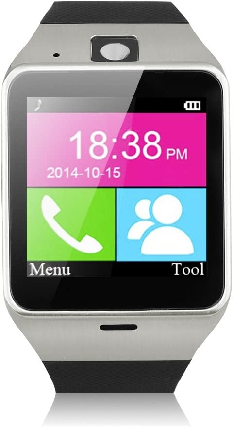 Excelvan GV18 - Smartwatch Reloj NFC Smartphone Libre 2G SIM ...