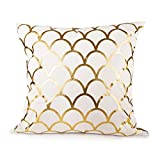 Sugar home GOLD SCALLOP Throw Pillow COVER 18""