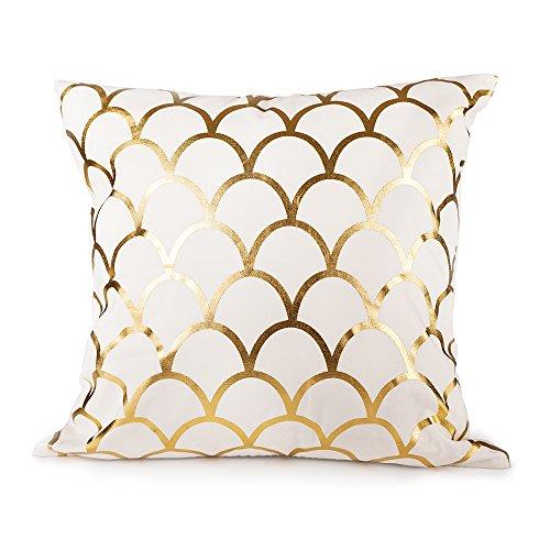 Sugar home GOLD SCALLOP Throw Pillow COVER 18