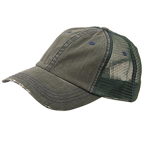 Cotton Mesh Cap-Dk. Green W40S62B (Mesh Back Baseball)