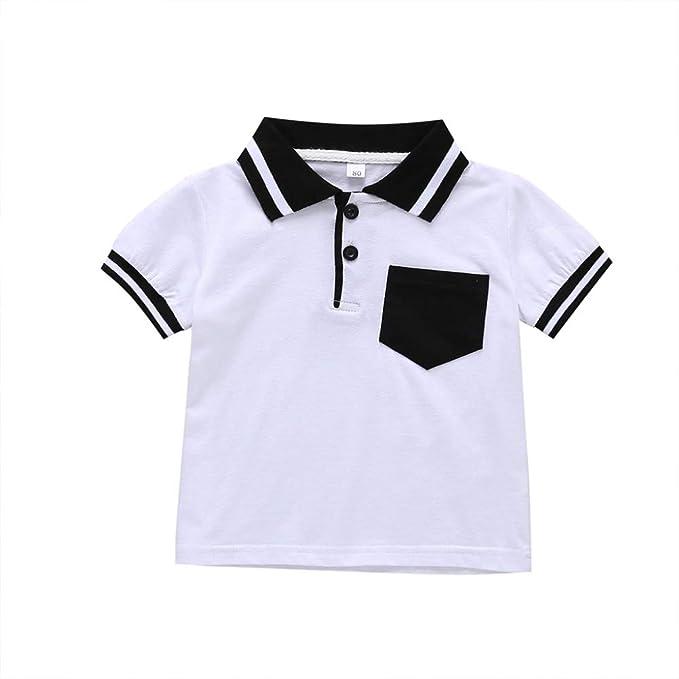 1 a 5 años de Camiseta de Polo Informal de algodón de Manga Corta ...