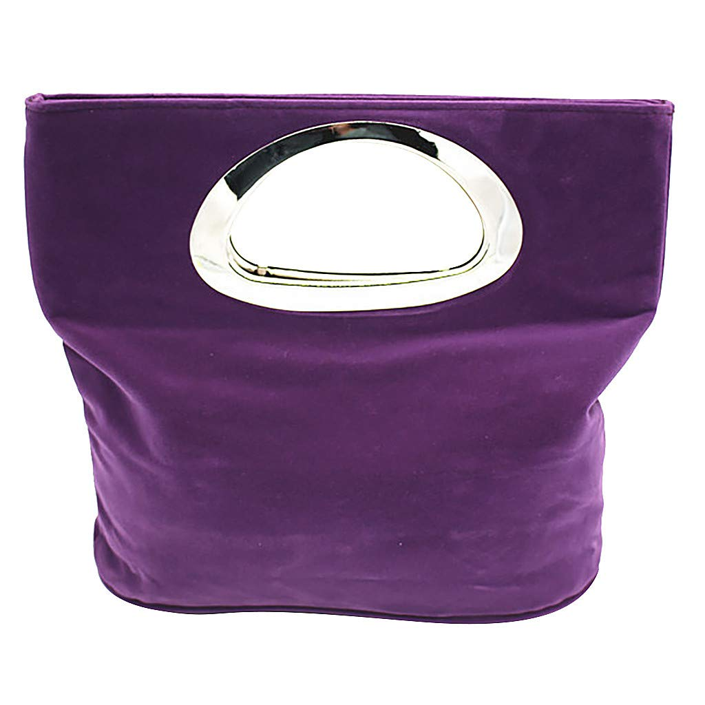 Top-Handle Handbags Clutch,SIN+MON Women/'s Fashion Simple Wool Totes Bags Square Collapsible Lightweight Evening Bag