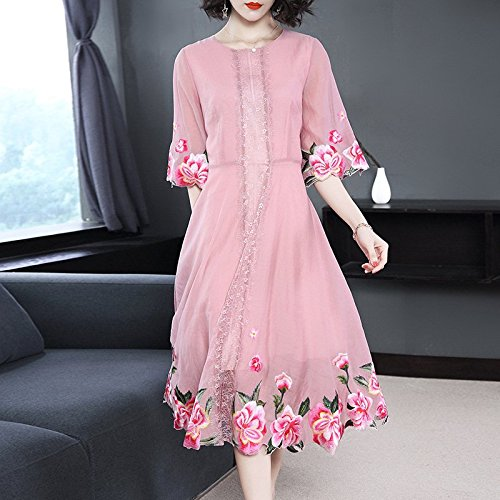 Meubles Chinois d't Robe MiGMV de Robe de Anciens Style mre M Nouveau de Pink Robes Style Broderie 2018 Robe FznBa