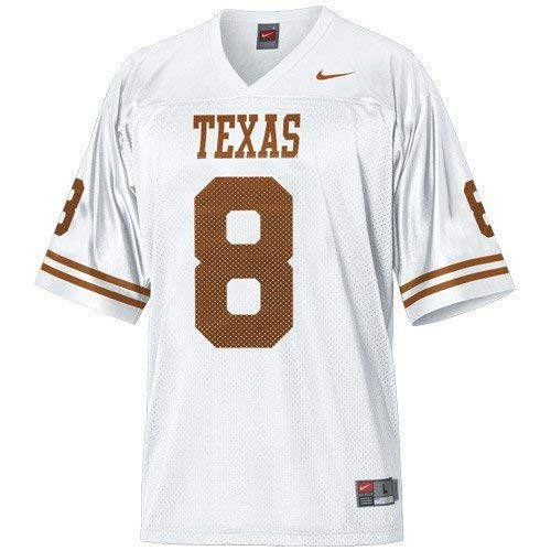 Nike Texas Longhorns #8 White Replica Football Jersey (XX-Large)