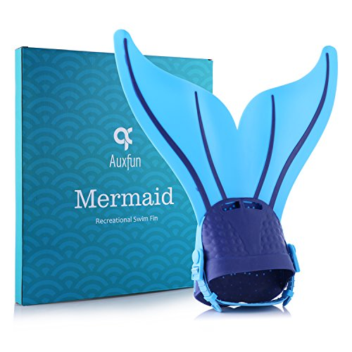 Red LiyaHair Adjustable Mermaid Swim Fin Diving Swimming Foot Flipper Foot Flipper Training Monofin Tail with 2 Color for Girls/Boys