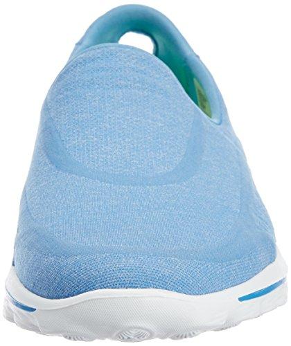 Mujer para 2 Deporte nbsp;Super Walk Go Skechers Blu Zapatilla Sock Azul de pTqTS6Z