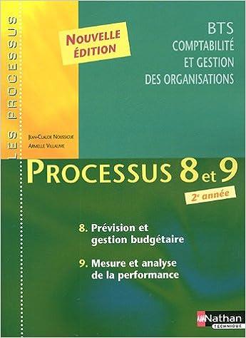 Livre Processus 8 et 9 Prévision et gestion budgétaire, Mesure et analyse de la performance BTS CGO 2e année pdf ebook