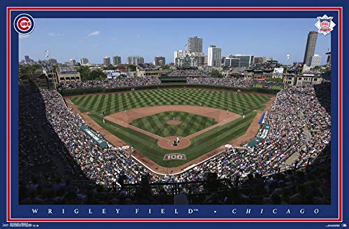 - Trends International Chicago Cubs - Wrigley Field Wall Poster, 22.375