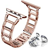 ITSHINY Compatible Replacement for Apple Watch Band 42mm 44mm, Replacement Adjustable Fashion iWatch Bands for Women, Replacement Metal Sport Strap for iWatch Series 4 3 2 1