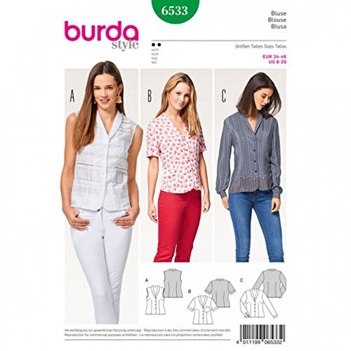 Burda B7142/ Coat and Jacket Sewing Pattern 19/ x 13/ cm