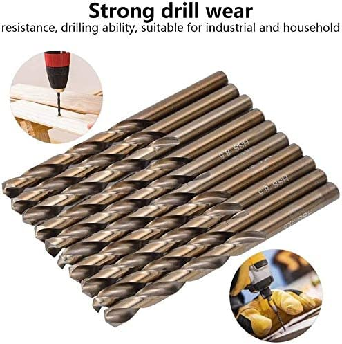 10pcs Twist Drill Bits High Speed Steel Stainless Steel Iron Drilling Tool Hole Opener Electric Drills 8mm//8.5mm Size : 8.5mm