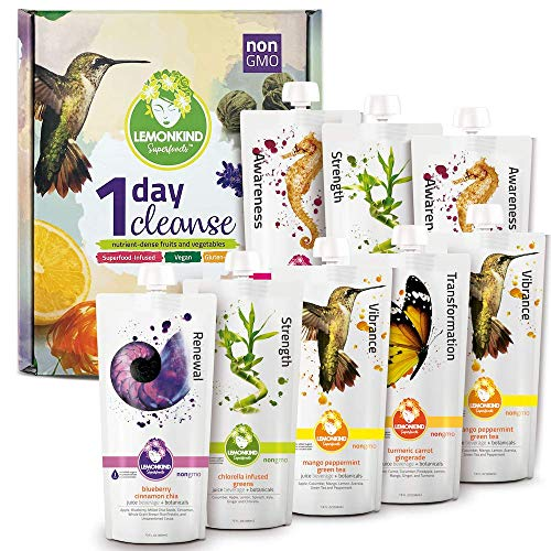 1 Day Original CORE Juice Cleanse – Quick and Easy Way to Detox, Jumpstart Weight Loss and Get Rid of Stubborn Bloating…