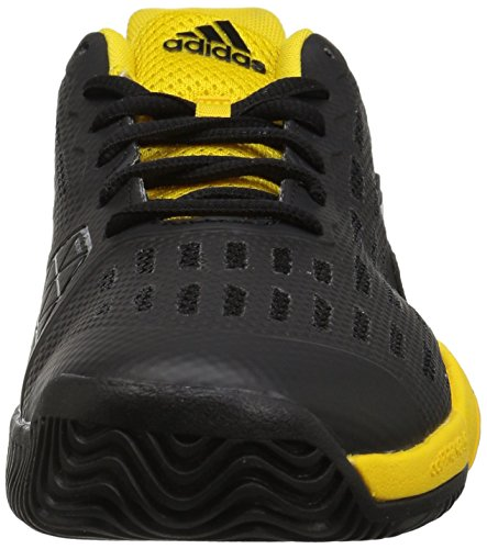 Pictures of adidas Kids' Barricade xJ Tennis Shoe BY9918 Black/White/Yellow 6