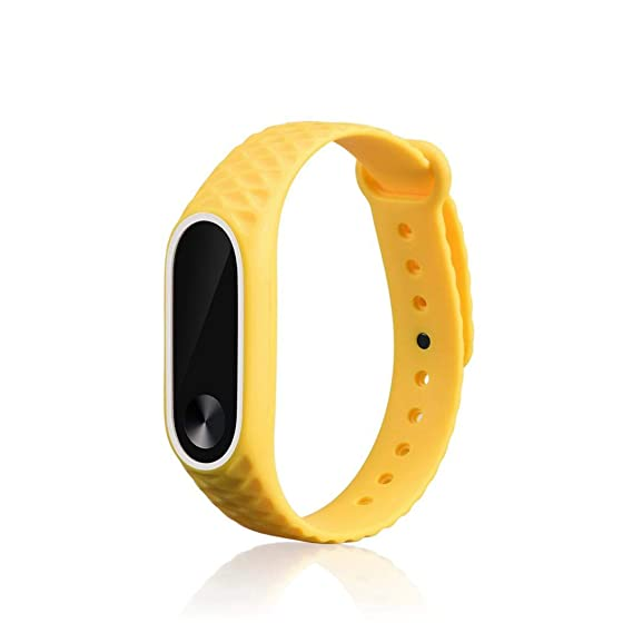 Bestow Reloj de Pulsera de Silicona Reemplazo de Banda Xiaomi Mi Band 2 Correa de Mu