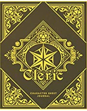 Cleric Character Sheet Journal: DnD Notebook With 50 Character Pages and 100 Mixed Pages (Lined, Graph, Hex & Blank)For Role Playing Fantasy Games I Campaign Adventure Planner Gifts For RPG Players To Create Characters, Maps, Track , Plan & More