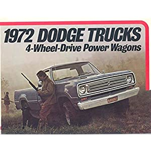 1972 Dodge 4 Wheel Drive Power Wagon Truck Brochure