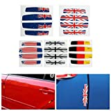 Exterior Accessories - 4pcs Car Door Edge Flag Emblem Anti-Crash Guard DecalGermany Usa - Doorway Margin Ensign Label Threshold Boundary Pin Gummed Room Access Sharpness Iris