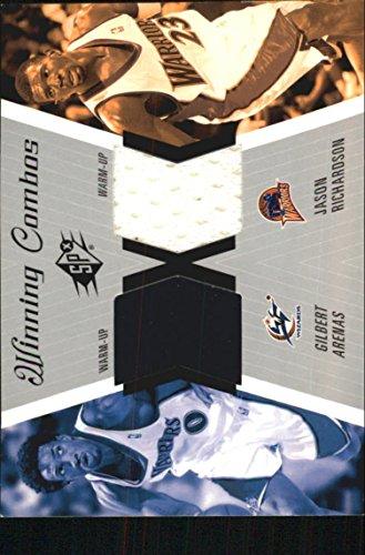 (2003-04 SPx Winning Materials Combos #WC5 Gilbert Arenas Jason Richardson Jersey)