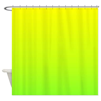 Image Unavailable Not Available For Color CafePress Lime Green Yellow Ombre Shower Curtain