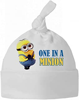 New Cute One in A Minion Funny Baby Clothes Cotton Boys Girls Knotted HAT ONE Size