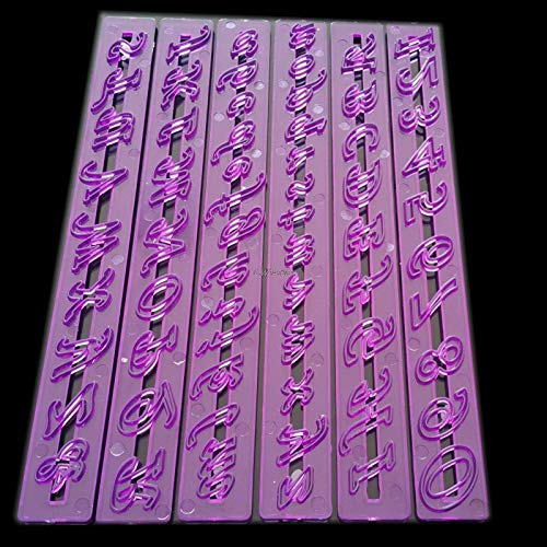 Letter English Alphabet - 1 Set Purple English Alphabet Fold Sugar Cake Tools Letters Number Mold Fondant Cookie Craft Cutter P41