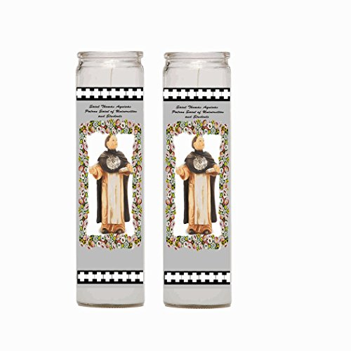 Gifts by Lulee, LLC Saint St Thomas Aquinas Patron Saint of Universities and Students (CANDLE)