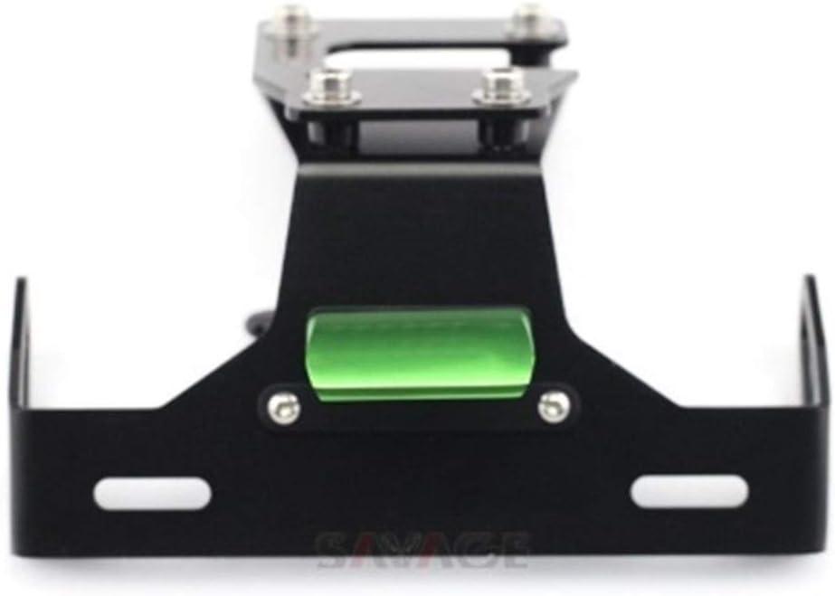 Licence Support de plaque for Z900 2017-2020 18 19 Motorcycle Tail Tidy Fender Eliminator Plaque dimmatriculation LED Z 900 Color : Black