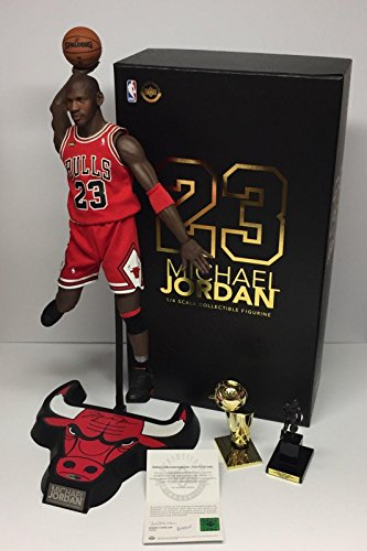 9486dec395470 Michael Jordan Autographed Basketball - Enterbay HD 1 4 Action Figure COA -  Upper Deck
