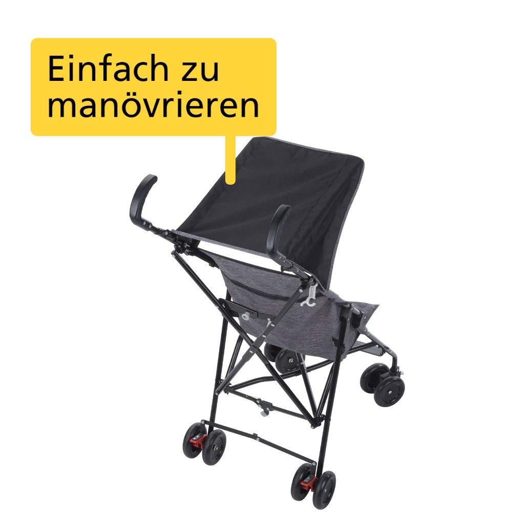 5 kg black chic wiegt nur 4 Safety 1st Peps Buggy mit Sonnenverdeck kompakt zusammenfaltbar 15 kg mit Feststellbremse und 5-Punkt-Gurt wendiger Kinderwagen nutzbar ab 6 Monate bis max