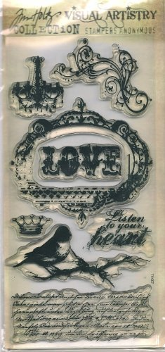 Tim Holtz Visual Artistry Collection Clear Stamps - Urban Grunge ()