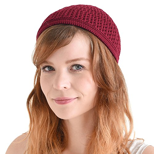 CHARM Casualbox | Knit Cotton Skull Cap Kufi Islam Prayer Hat Crochet Mesh Skully Beanie Enge