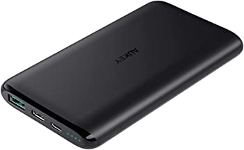 Aukey PB-XN10 USB C Dual-Output 10000mAh Portable Power Bank