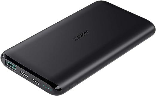 AUKEY Bateria Externa para Movil USB C, Powerbank 10000 mAh, Cargador Portátil compatible con iPhone XS/XS Max/XR, Samsung, Nintendo Switch, tabletas y más: Amazon.es: Electrónica