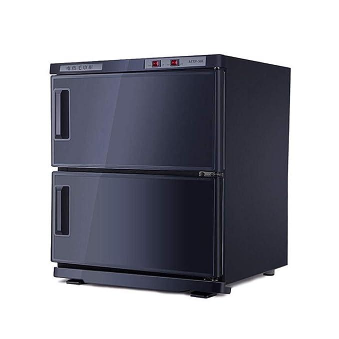 2 en 1 Caliente Toalla Calentador 25L/50L UV Ligero Esterilizador de Toallas Desinfección Gabinete con Inoxidable Acero Estante para Belleza Salón, SPA, ...