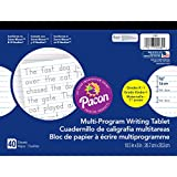 Pacon PAC2480BN Multi-Program Handwriting Tablet, 5/8'' Ruled (Long Way), 10-1/2'' x 8'', 40 Sheets per Tablet, Pack of 12