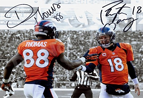 Peyton Manning and Demaryius Thomas Autograph Replica Poster ()