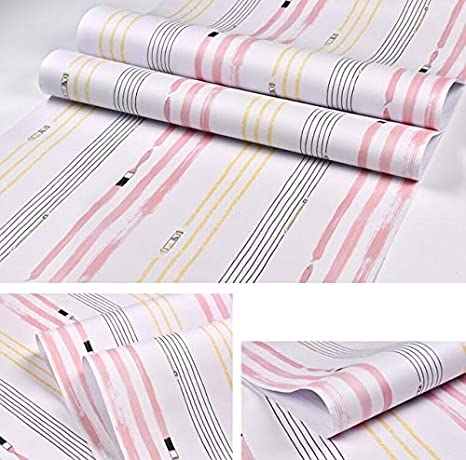 Wall Stickers Murals Removable Wallpaper Borders Cute Blue Pink Stripe Wallpaper Kids Bedroom Wall Decal Self Adhesive Pvc Wallpapers Baby Girl Boy Room Striped Wall Paper Amazon Ca Home Kitchen
