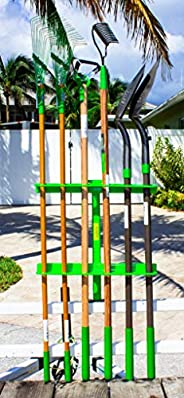 Green Touch Hand Tool Rack for Open Trailers