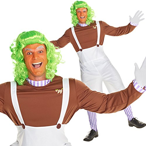 [Mens Dwarf Chocolate Worker Musical Costume - 4 Piece Quality Costume] (Wonka Costumes)