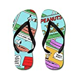CafePress Snoopy's Summer Fun - Flip Flops, Funny Thong Sandals, Beach Sandals