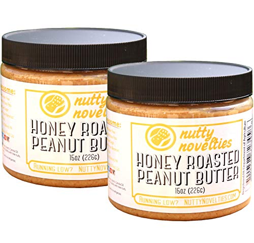 Nutty Novelties Honey Roasted Peanut Butter - High Protein, Low Sugar Healthy Peanut Butter - All-Natural Peanut Butter Free of Cholesterol & Preservatives - Crunchy Peanut Butter - 30 ()