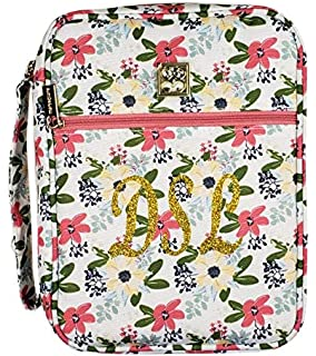 Mary Square Madison Floral Bible Cover Case 8 x 10.5 with Handle