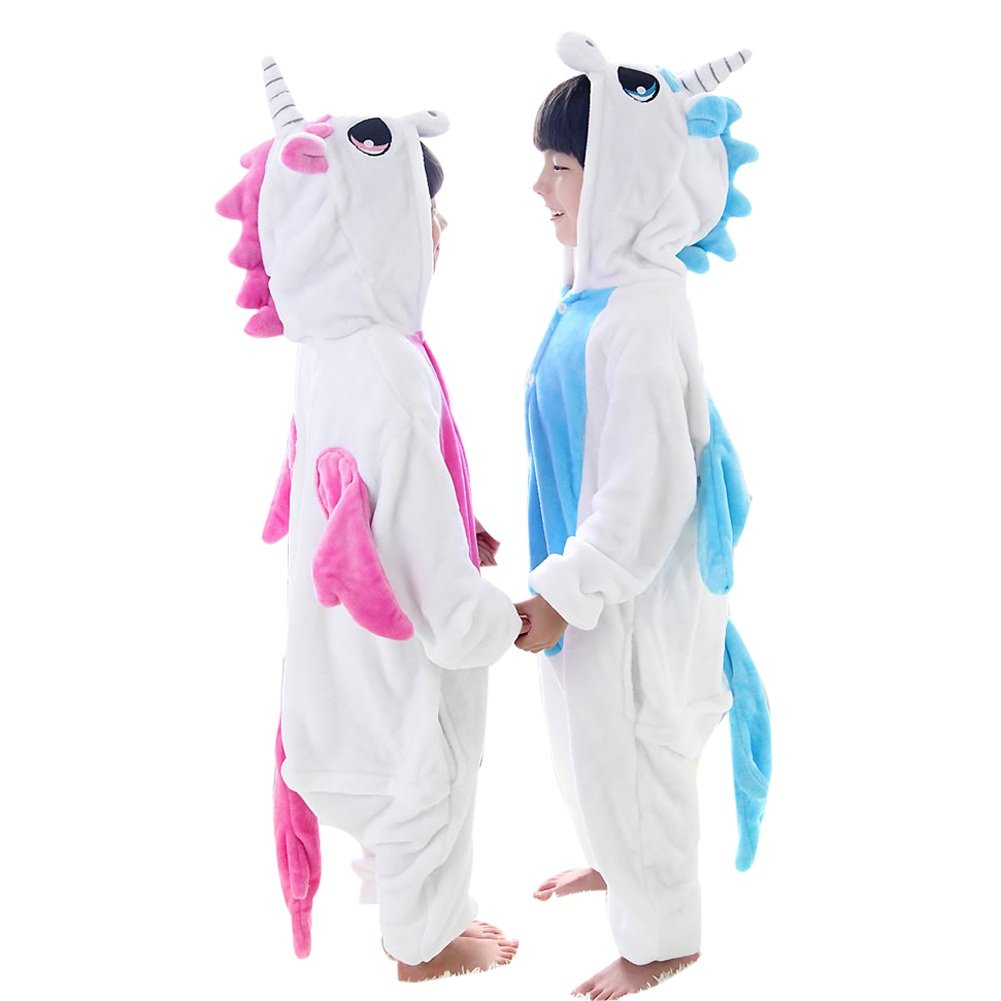 02a611097 Amazon.com: Duraplast Kids Unicorn Costumes Halloween Onesie Pajamas For  Boys Girls: Clothing