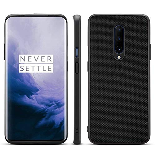 Basic Cases for OnePlus 7 Pro,Handcrafted Nylon Cloth case Protection Back Cover Shell for 1+ Oneplus 7Pro (B-Nylon Black) ()