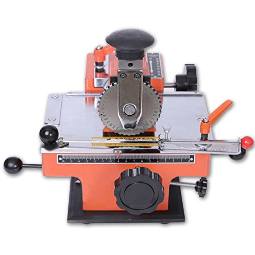 Semi-automatic Nameplate Metal Label Stamping Printer Marking Machine Marker 4mm by CJCMALL